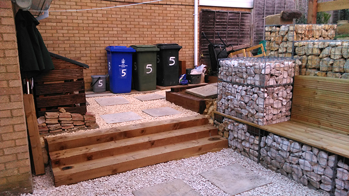 Transformation of sloped back garden